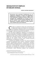migration et emploi en milieu rural - Recherches internationales