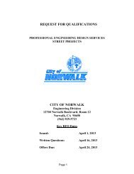 REQUEST FOR PROPOSALS - City of Norwalk