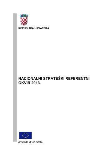 nacionalni strateški referentni okvir 2013. - Ministarstvo ...