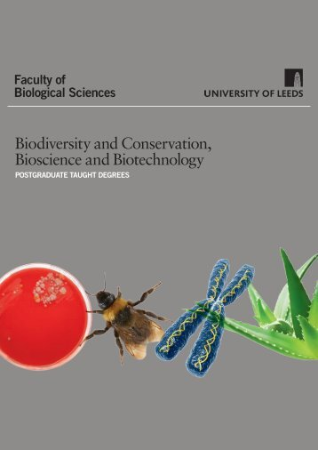 mASTERS iN BiODivERSiTY AND CONSERvATiON - Faculty of ...