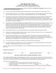 Consent Form - Wizards of the Coast