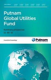 Global Utilities Fund Summary Prospectus - Putnam Investments