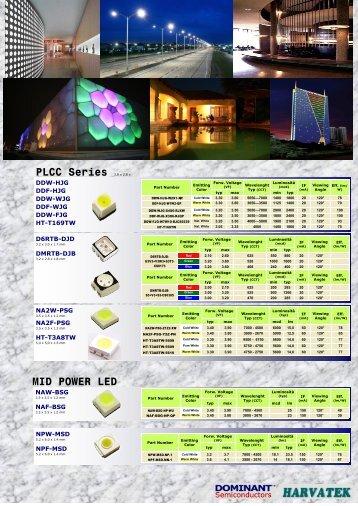 PLCC Series 3.8 x 2.8 x MID POWER LED - Welt Electronic