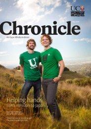 Chronicle - Communications - University of Canterbury