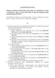 Organizacja roku akademickiego 2012/2013 - Akademia ...