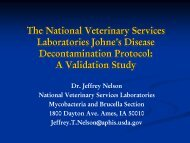 The National Veterinary Services Laboratories Johne's Disease ...