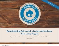 Bootstrapping Solr search clusters and maintain them using Puppet