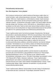 Ihmisoikeudet ja kansanvainot Dos. Eero Kuparinen, Turun ... - Edu.fi