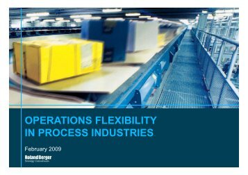 operations flexibility in process industries - Roland Berger Strategy ...