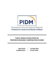 Consultation Paper on Proposed Insurance Compensation ... - PIDM