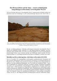 Erster Vorbericht Grabung Herxheim 2013 Text und Bilder