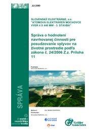 SPRÁVA - Slovenské elektrárne