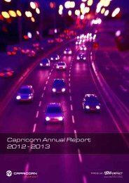 CSL Annual Report - Year ending 30 June 2013 - Capricorn Society