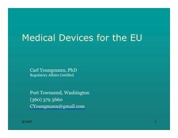 Medical Devices for the EU - LifeSciences BC