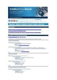 Alumni Nº99 - 27 de Abril de 2012 - Universidade Católica Portuguesa