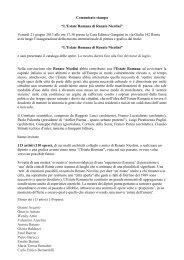 """Comunicato stampa """"L'Estate Romana di Renato Nicolini"""" Venerdì ..."""