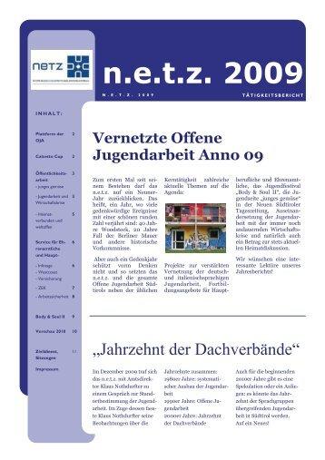 Tätigkeitsbericht 2009 - N.e.t.z.