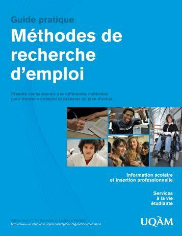 Méthodes de recherche d'emploi Guide pratique - UQAM