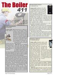 The Boiler - Plumbing Engineer