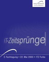 Flyer Fachtagung 2003 - Verein ZEITSPRUNG IT-Forum Fulda eV