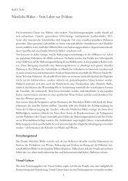 Nützliche Bilder – Vom Labor zur Evidenz - Dr.Rolf F. Nohr
