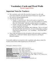 Vocabulary Cards 7th Grade N thru Z - Granite School District