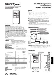GRX-TVI besturingsinterface 100-127V en 220-240V/CE - Lutron