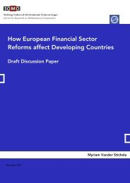 How European Financial Sector Reforms affect Developing Countries