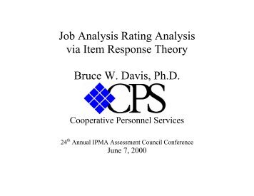 job analysis theory