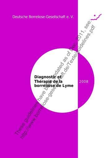 Diagnostic et Thérapie de la borréliose de Lyme - Deutsche ...
