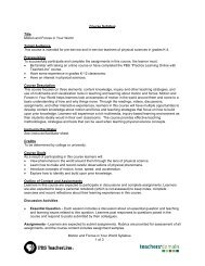 Motion and Forces in Your World Syllabus 1 of 3 Course ... - PBS