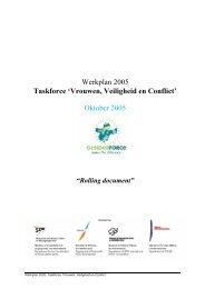Werkplan 2005 Taskforce 'Vrouwen, Veiligheid en Conflict' Oktober ...