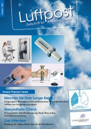 Unsere Themen heute - Patientenliga Atemwegserkrankungen e.V.