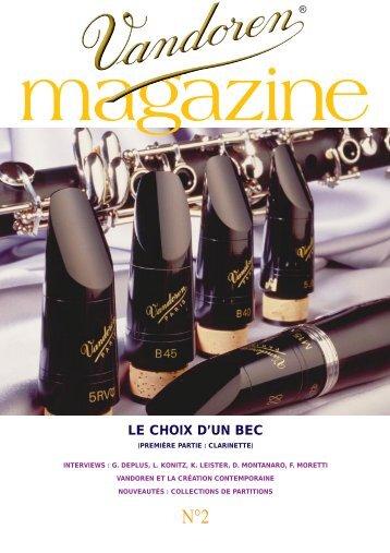 Le choix d'un bec (clarinette) (738k) - vandoren