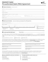 pre-authorized debit (pad) agreement - Victoria