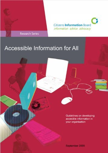 Accessible information for all (2009) (pdf) - Citizens Information Board