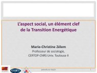 Aspect social un élément clef de la transition énergétique - CoTITA