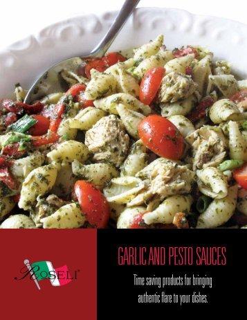 GARLIC AND PESTO SAUCES - Tulkoff Food Products