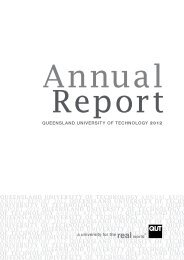 Annual Report of Queensland University of Technology 2012 - QUT