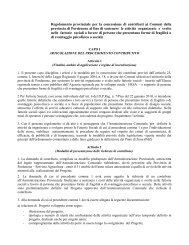 disciplina dei criteri e delle modalità di concessione dei contributi in ...