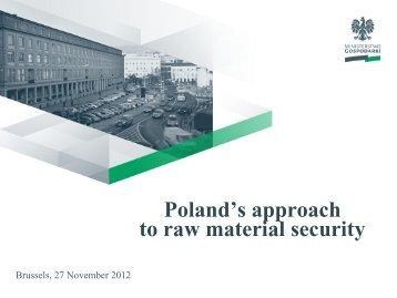 Mr. Zbigniew Kamienski, Ministry of Economy in Poland - Euromines