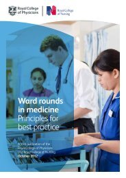 Ward rounds in medicine - Royal College of Physicians