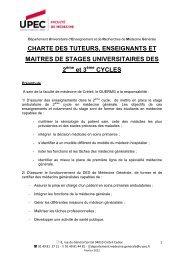 CHARTE DES TUTEURS, ENSEIGNANTS ET MAITRES DE ...