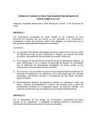 CÓDIGO DE CONDUCTA PARA FUNCIONARIOS ENCARGADOS ...