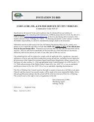 13-005_Lube, Oil, & Filter Service - City of Sebring, Florida