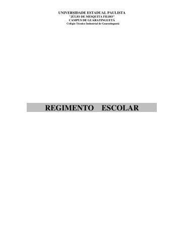 Regimento do CTIG - Unesp