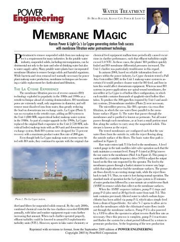 MEMBRANE MAGIC - Pall Corporation