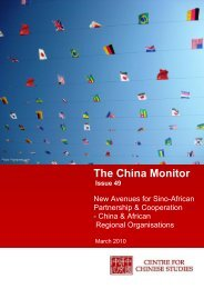 China Monitor – Issue 49 – March 2010 - The Centre for Chinese ...