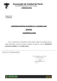 CALENDÁRIO CAMPEONATO FUTEBOL 2ª DIVISÃO juniores