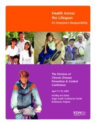 Health Across the Lifespan: - Office of Family Health Services